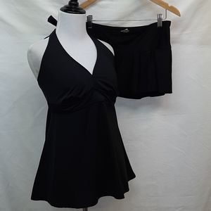 Liz Lange)Maternity Black Tankini S/M Swimsuit